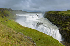 Gullfoss Waterfall, southern part of Iceland Royalty Free Stock Image
