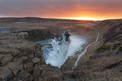 Gullfoss waterfall iceland Stock Photo