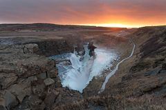 Gullfoss waterfall iceland Royalty Free Stock Images