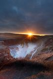 Gullfoss waterfall iceland Stock Images