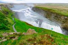 The Gullfoss waterfall Stock Photo
