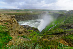 The Gullfoss waterfall Royalty Free Stock Photography