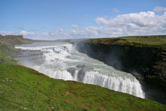Gullfoss Waterfalls. Golden Falls - a famous Icelandic tourist attraction Royalty Free Stock Photography