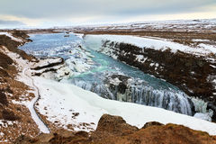 Gullfoss waterfalls Royalty Free Stock Photo