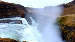 Gullfoss Waterfalls in Iceland stock footage