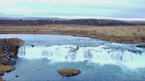 Gullfoss Waterfalls in Iceland stock video