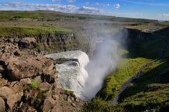 Gullfoss wild waterfall, strong running water Stock Images