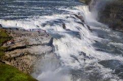 Gullfoss wild waterfall, strong running water Stock Photo