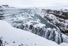 Gullfoss Winter Triangle Stock Images