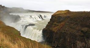 gullfossiceland vattenfall Royaltyfri Fotografi