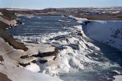 gullfossvattenfall Arkivfoto