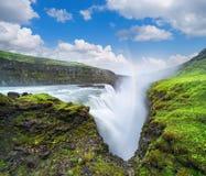 Gullfosswaterval, toeristische attractie van IJsland Stock Foto