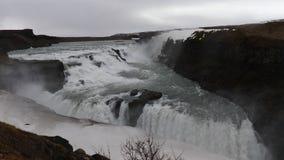 Gullfosswatervallen in IJsland 4K stock videobeelden