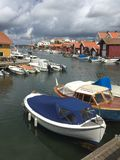 Gullholmen channel Royalty Free Stock Photos