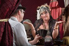 Gullible Fortune Teller Stock Photography