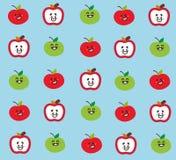 Gullig äppleframsidatapet royaltyfri illustrationer