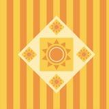 Gullig abstrakt sunbakgrund Arkivbilder