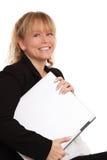 Gullig affärskvinna i hennes 40-tal Royaltyfri Foto