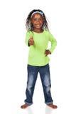 Gullig afrikansk flicka Arkivbild