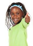 Gullig afrikansk flicka Arkivfoton