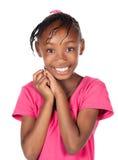 Gullig afrikansk flicka Royaltyfria Foton