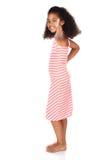Gullig afrikansk flicka Royaltyfria Bilder
