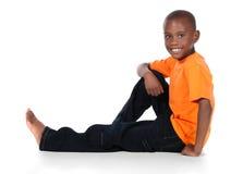 Gullig afrikansk pojke Royaltyfria Foton