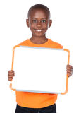 Gullig afrikansk pojke Arkivfoto