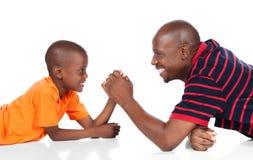 Gullig afrikansk pojke Royaltyfria Bilder
