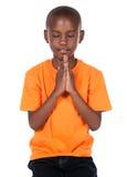 Gullig afrikansk pojke Royaltyfri Fotografi
