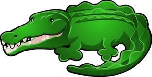 gullig alligatortecknad filmkrokodil Fotografering för Bildbyråer