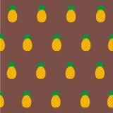 Gullig ananas för sömlös träsko vektor illustrationer