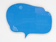 Gullig anförandebubbla som isoleras på en vit bakgrund, Royaltyfria Foton