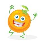 Gullig apelsin på en vit bakgrund vektor Arkivfoton