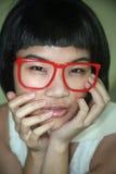Gullig asiatisk flicka royaltyfri foto