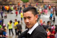Gullig asiatisk grabb Royaltyfria Bilder