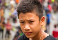 Gullig asiatisk grabb Royaltyfri Fotografi