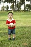 gullig asiatisk pojke Fotografering för Bildbyråer