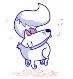 gullig avatar en pojke med lyckliga tecken för en facecute av hundkapplöpning som har roligt och sjungande royaltyfri illustrationer