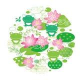 Gullig bakgrund för lotusblommablomma Arkivfoto