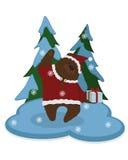 gullig björn gåva Vinter Vektor Illustrationer