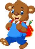 Gullig björn med ryggsäcken vektor illustrationer