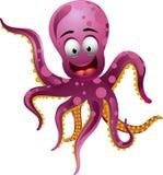 Gullig bläckfisktecknad film Vektor Illustrationer