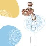 gullig blom- hälsning för kort stock illustrationer