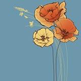 gullig blom- hälsning för kort vektor illustrationer