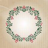 Gullig blom- ram på pappers- bakgrund Royaltyfri Fotografi