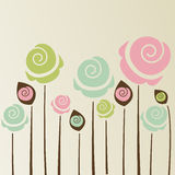 Gullig blommabakgrund Arkivbild
