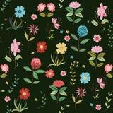 Gullig blommabakgrund Fotografering för Bildbyråer