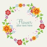 Gullig blommakrans Fotografering för Bildbyråer