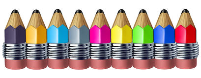 gullig blyertspenna för kant royaltyfri illustrationer
